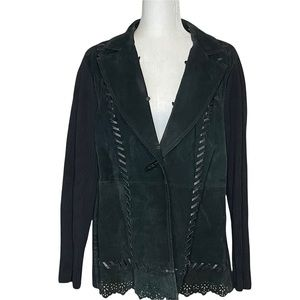 Nygard Collection Suede Sweater Jacket Size XL 18-20